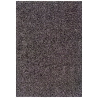 Modern Shag Grey/ Purple Area Rug (6'7 x 9'6)