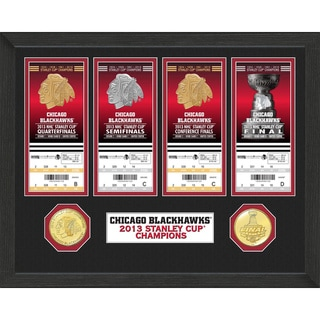 Chicago Blackhawks Stanley Cup Ticket/ Bronze Coin Collection