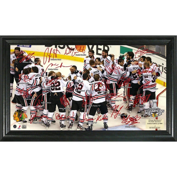 2013 Stanley Cup Champions Celebration Faxed Signature Rink 11383164