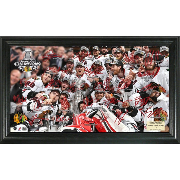 2013 Stanley Cup Champions Faxed Signature Rink