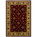 Traditional Red/ Ivory Oriental-pattern Accent Rug (1'10 x 3'3)