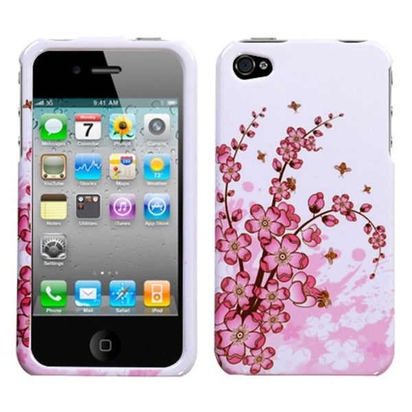 INSTEN Spring Flowers Phone Case Cover for Apple iPhone 4/ 4S