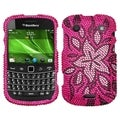 BasAcc Flowers Diamante Case for Blackberry 9930 Bold/ 9900 Bold