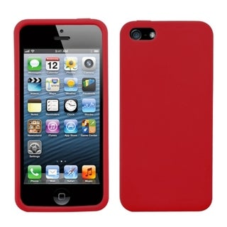 BasAcc Red Solid Skin Case for Apple iPhone 5