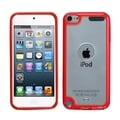 BasAcc Transparent Clear/ Red Case for Apple iPod Touch 4