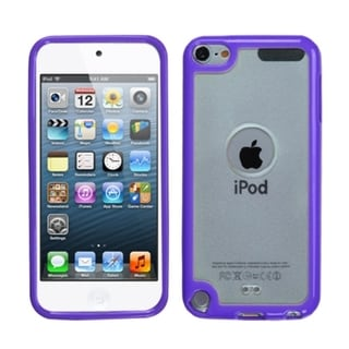 INSTEN Transparent Clear/ Purple iPod Case Cover for Apple iPod Touch 4