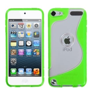 BasAcc Clear/ Green S-Shape Case for Apple iPod Touch 5