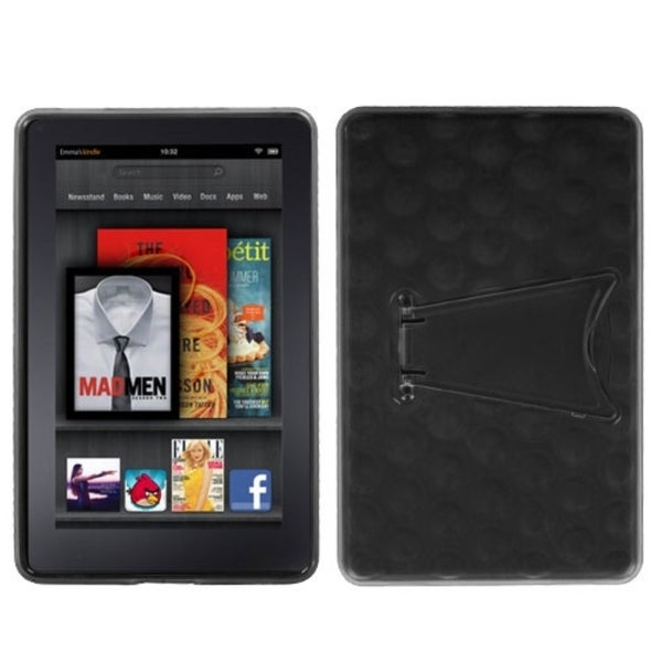BasAcc Clear/ Black Case with Stand for Kindle Fire