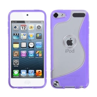 BasAcc Transparent Clear/ Purple S-Shape Case for Apple iPod Touch 4