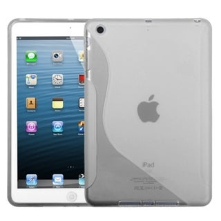 BasAcc Transparent Clear S-Shape Candy Skin Case for Apple iPad Mini