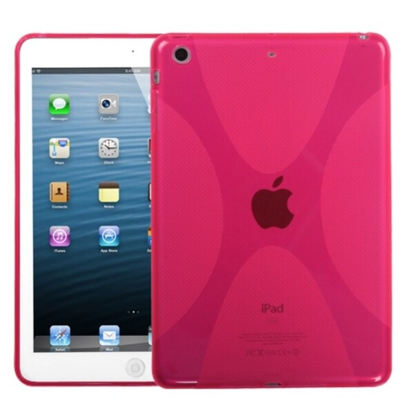 INSTEN T-Pink X Shape Candy Skin Tablet Case Cover for Apple iPad Mini