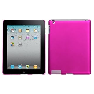 INSTEN Titanium Hot Pink Back Tablet Case Cover for Apple iPad 1/ 2/ 4