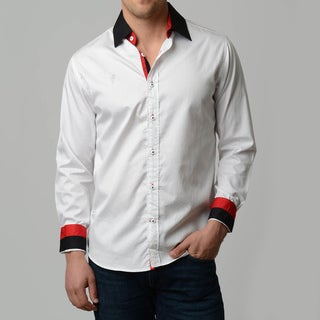 V.I.P. Collection Men's Slim Fit Long Sleeve Button Down Shirt