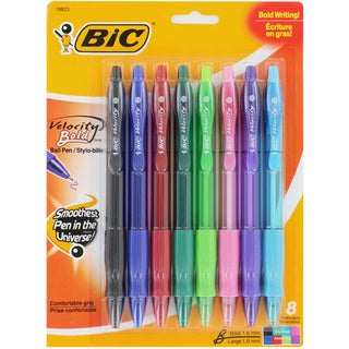 Bic Velocity Bold Ballpoint Pens, Bold Point 1.6mm/ Fashion Assorted Colors/ 8/Pack (VLGBP81AST)