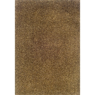 Modern Shag Beige/ Brown Area Rug (6'7 x 9'6)