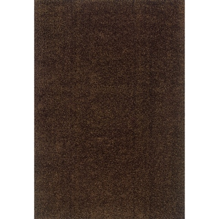 Modern Shag Brown/ Brown Area Rug (6'7 x 9'6)