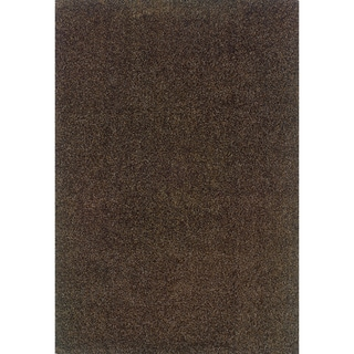 Modern Shag Grey/ Brown Area Rug (6'7 x 9'6)