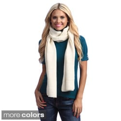 Cashmere Shoowroom Checkerboard Ribbed Scarf