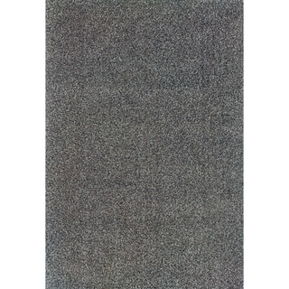 Modern Shag Blue/ Grey Area Rug (6'7 x 9'6)