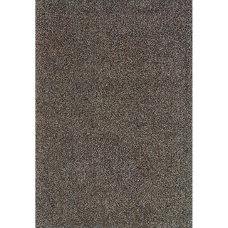 Modern Shag Blue/ Brown Area Rug (6'7 x 9'6)