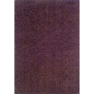 Modern Shag Purple/ Brown Area Rug (9'10 x 12'9)