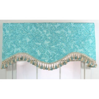Astral Aqua Cornice Window Valance