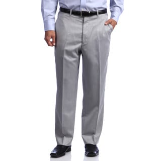 Phat Premium by Phat Farm Men's Sharkskin Grey Wide-leg Pants
