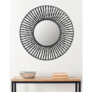 Safavieh Swirl Round Wall Black Mirror