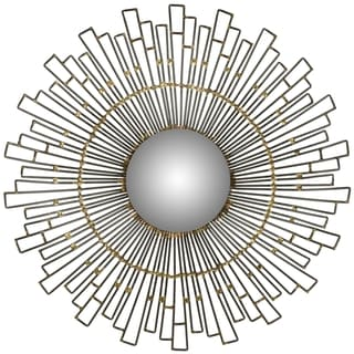Safavieh Concave Sunburst Natural Mirror