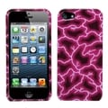 BasAcc Red Lightning Phone Protector Case for Apple iPhone 5