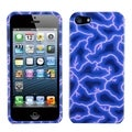 BasAcc Blue Lightning Phone Protector Case for Apple iPhone 5