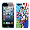 BasAcc Flowers Patchwork Phone Protector Case for Apple iPhone 5
