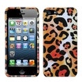 BasAcc Orange Cheetah Skin Phone Protector Case for Apple iPhone 5