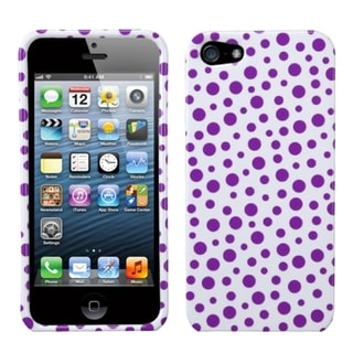 INSTEN Purple Mixed Polka Dots Phone Case Cover for Apple iPhone 5