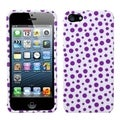 BasAcc Purple Mixed Polka Dots Phone Case for Apple iPhone 5