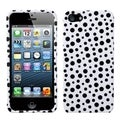 BasAcc Black Mixed Polka Dots Phone Protector Case for Apple iPhone 5