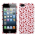 BasAcc Red Mixed Polka Dots Phone Protector Case for Apple iPhone 5