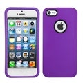 BasAcc Grape Rubberized Case with Decorative Rings for Apple iPhone 5