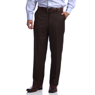 Phat Premium by Phat Farm Men's Brown Shadow Tone Wide-leg Pants