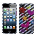 BasAcc 2D Silver Color Heart Phone Protector Case for Apple iPhone 5
