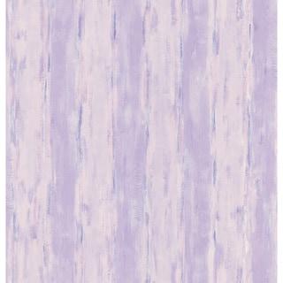 Brewster Purple Abstract Stripe Wallpaper