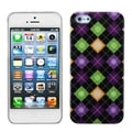 BasAcc Colorful Rhombic Plaid Phone Protector Case for Apple iPhone 5