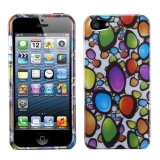 BasAcc Rainbow Gemstones Silver Phone Case for Apple iPhone 5