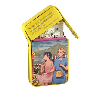 Alicia Klein Nancy Drew Yellow Flip Top Business Card Holder