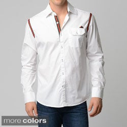 V.I.P. Collection Men's Slim Fit Long-sleeve Button-front Shirt