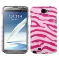 BasAcc Pink Zebra Pearl Diamante Back Case for Samsung Galaxy Note 2