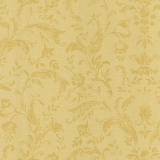 Brewster Beige Scroll Wallpaper
