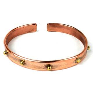 Handcrafted Riveting Copper and Brass Bangle (South Africa)