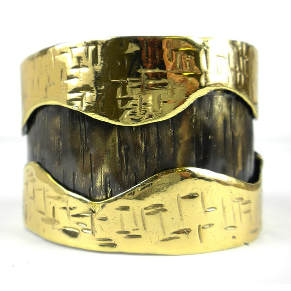 Handmade Road Less Traveled Brass Cuff (South Africa)