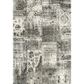 Eternity Patchwork Black Silver Rug (2' x 3'11)